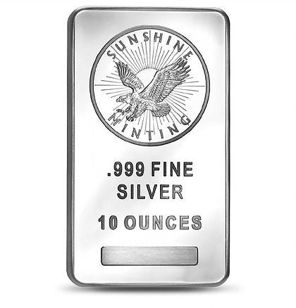 10 Ounce Sunshine Mint .999 Silver Bar - Art in Coins