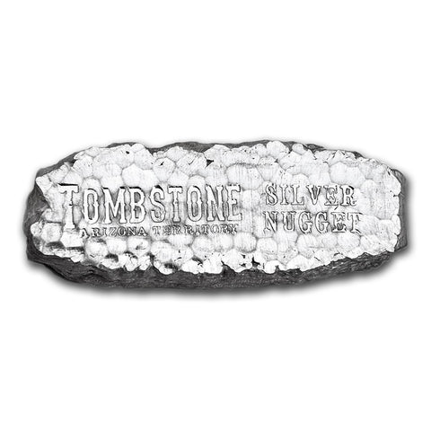 10 Oz Tombstone Nugget .999 Silver Bar - Art in Coins