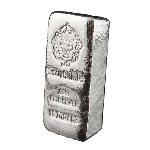 10 Ounce Scottsdale Mint Chunky .999 Cast Silver Bar