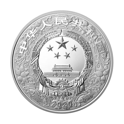 2020 30 Gram Lunar Year of the Rat Colored Silver Proof Coin