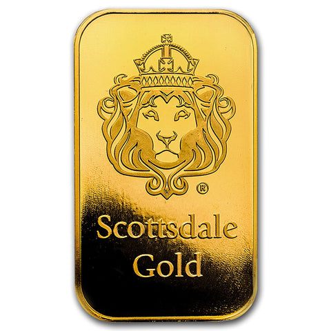 "Scottsdale Mint 1 Gram ""Certi-Lock®"" Gold Bar - Sealed Assay"
