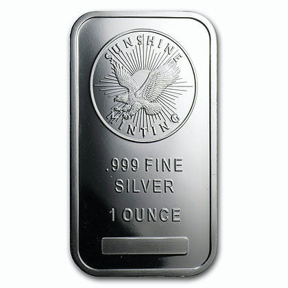 1 Ounce Sunshine Mint .999 Silver Bar - Art in Coins