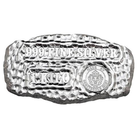 1 Kilogram Tombstone Nugget Silver Bar