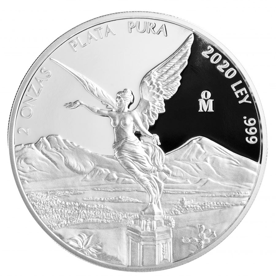 2020 Mexico 2 Ounce Libertad .999 Silver Proof Coin