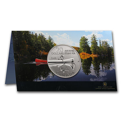 2011 RCM Lot of 4 $20 1/4 Ounce Canoe Silver Coins