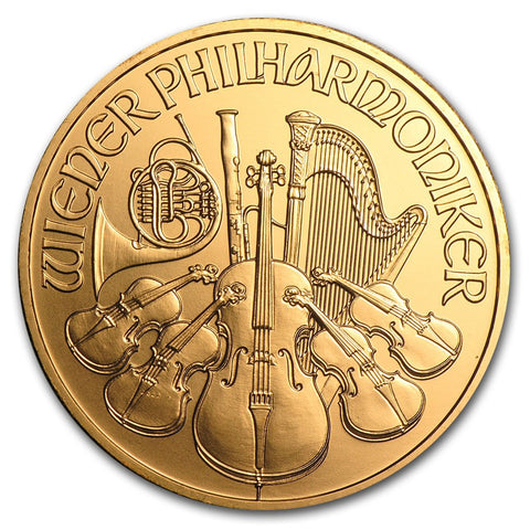 2011 1 Ounce Austrian Philharmonic .9999 Gold Coin - Art in Coins