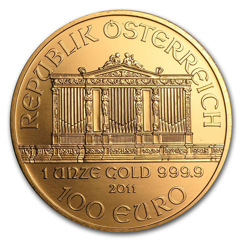 2011 1 Ounce Austrian Philharmonic .9999 Gold Coin