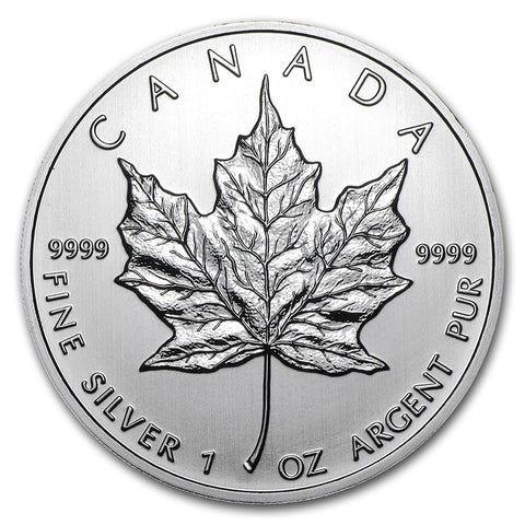 2012 Canada 1 Ounce Maple Leaf .9999 Silver Coin