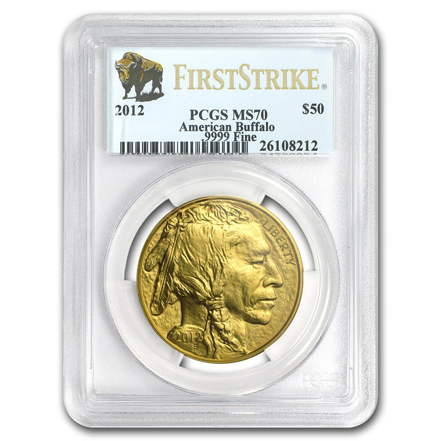 2012 1 Ounce American Buffalo Gold Coin PCGS MS-70 First Strike - Art in Coins