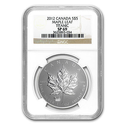 2012 1 Ounce Maple Leaf Titanic Privy Silver Coin NGC SP-69 - Art in Coins