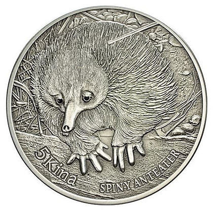 2012 Papua New Guinea 1 Ounce Spiny Anteater Silver Proof Coin - Art in Coins