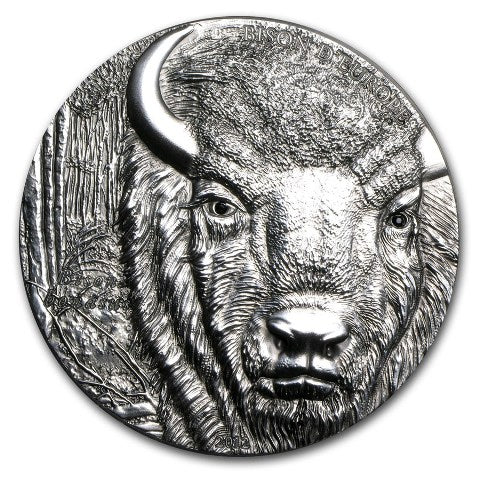 2012 Togo 2 Ounce Bison D'Europe High Relief Silver Coin - Art in Coins