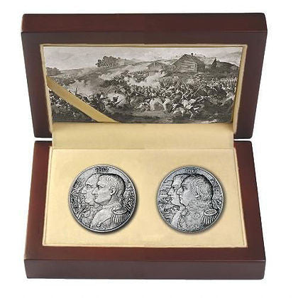 2012 2 X 2 Ounce War Of 1812 - Napoleon High Relief Silver Coin Box - Art in Coins
