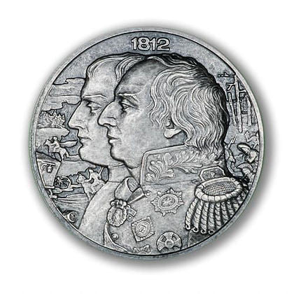 2012 Niue 2 X 2 Ounce War Of 1812 - Napoleon High Relief Silver Coin Set