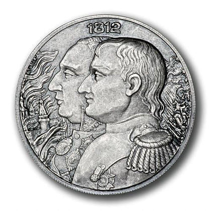 2012 2 X 2 Ounce War Of 1812 - Napoleon High Relief Silver Coin Set - Art in Coins