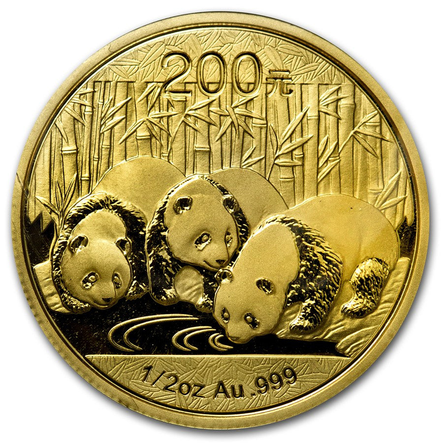 2013 1/2 Ounce Chinese Panda Gold Coin - Art in Coins