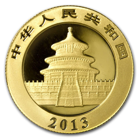 2013 1/2 Ounce Chinese Panda .999 Gold Coin