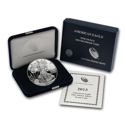 2013-W 1 Ounce American Eagle Silver Proof Coin Set Art in Coins