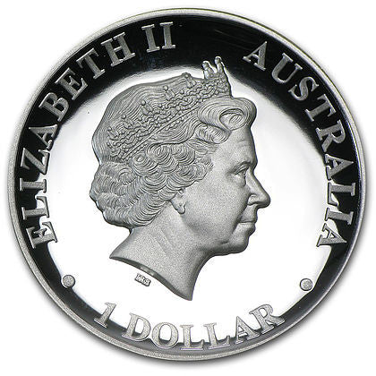 2013 Australia 1 Ounce Kookaburra High Relief Silver Proof Coin