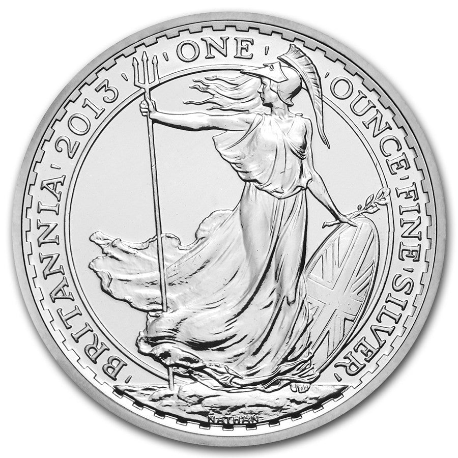 2013 Great Britain 1 Ounce Britannia Silver Coin