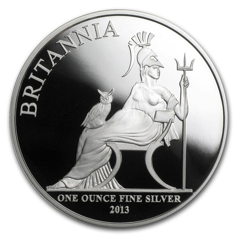 2013 1 Ounce Britannia Silver Proof Coin - Art in Coins