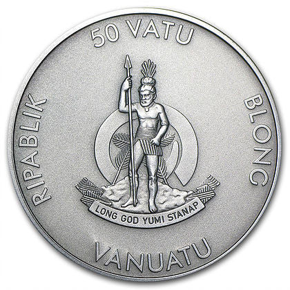 2013 Vanuatu 1 Oz Forest Animals Raccoon High Relief Silver Coin - Art in Coins
