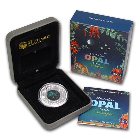2013 1 Ounce Kangaroo Opal Series Silver Proof Coin Set - Art in Coins
