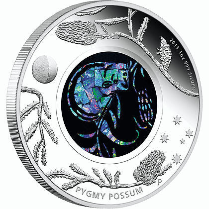 2013 1 Ounce Pygmy Possum Opal Series Silver Proof Coin - Art in Coins