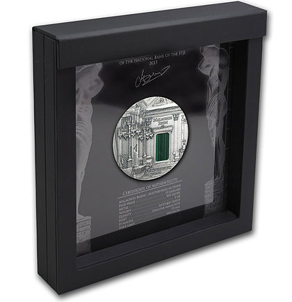 2013 Fiji 3 Ounce Room Of Malachite High Relief Silver Proof Coin Frame - Art in Coins