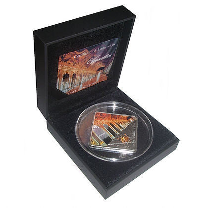 "2013 Palau 50 Gram Versailles ""Hall Of Mirrors"" Silver Proof Coin Box - Art in Coins"