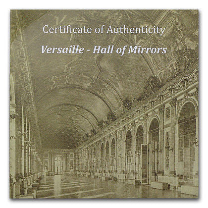 2013 Palau 50 Gram Versailles Hall Of Mirrors Silver Proof Coin