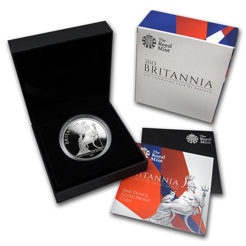 2013 Great Britain 1 Ounce Britannia Silver Proof Coin