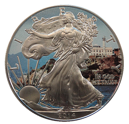 2014 1 Ounce American Eagle Alcatraz Edition Silver Coin - Art in Coins