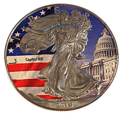 2014 1 Ounce American Eagle Capitol Hill Edition Silver Coin - Art in Coins