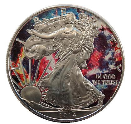 2014 1 Ounce American Eagle Galaxy Edition Silver Coin - Art in Coins