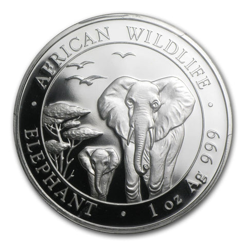 2015 Somalia 1 Ounce African Elephant Silver Coin PCGS MS-69 First Strike