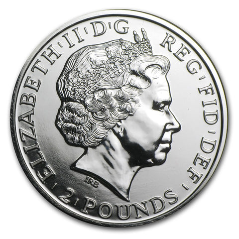 2015 Great Britain 1 Ounce Year Of The Sheep Silver Coin