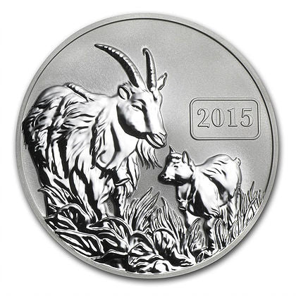 2015 Tokelau 1 Ounce Year Of The Goat Silver Proof Coin - Art in Coins