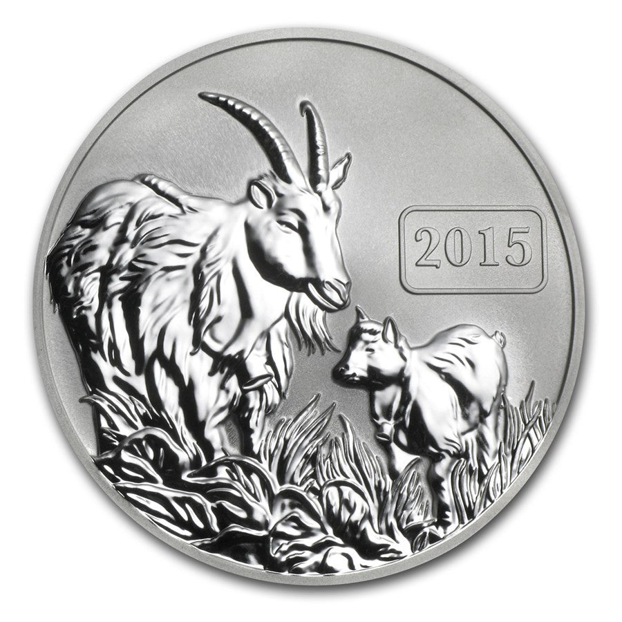 2015 Tokelau 1 Ounce Year Of The Goat Reverse Proof Silver Coin - Art in Coins