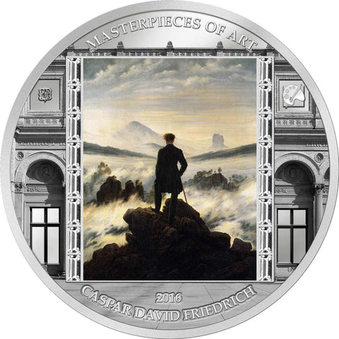 2016 3 Ounce Caspar Friedrich Wanderer above the Sea of Fog Silver Proof Coin - Masterpieces Of Art
