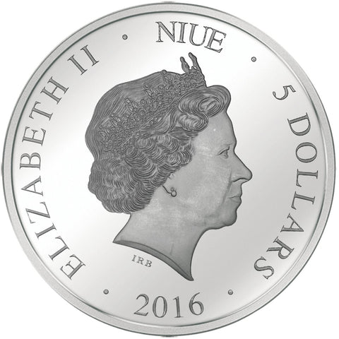 2016 Niue 3 Ounce Colossus of Nero Holo Vision Silver Proof Coin