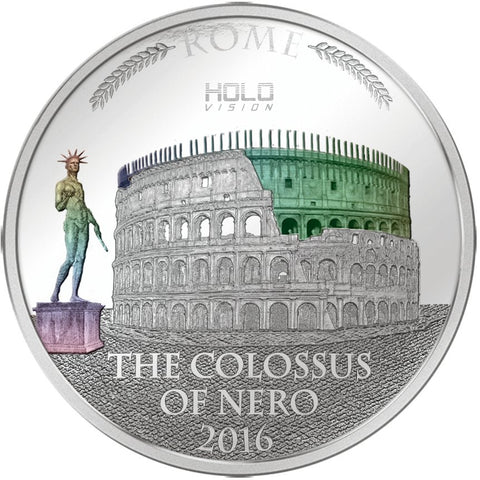 2016 3 Ounce Colossus of Nero Holo Vision Silver Proof Coin Set
