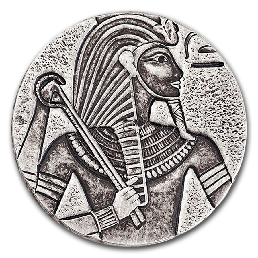 2016 5 Ounce King Tut Egyptian Relic Series Antique Finish Silver Proof Coin