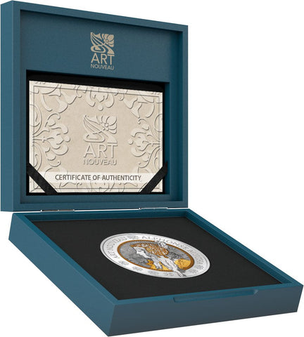 2016 Samoa 2 Ounce Art Nouveau - Alphonse Mucha Gold & Ruthenium Silver Coin Set