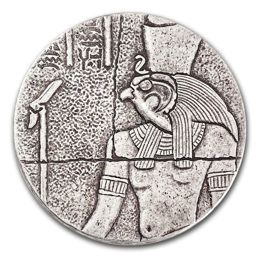 2016 Chad 2 Ounce Horus Egyptian Relic Silver Proof Antique Finish Coin - Art in Coins