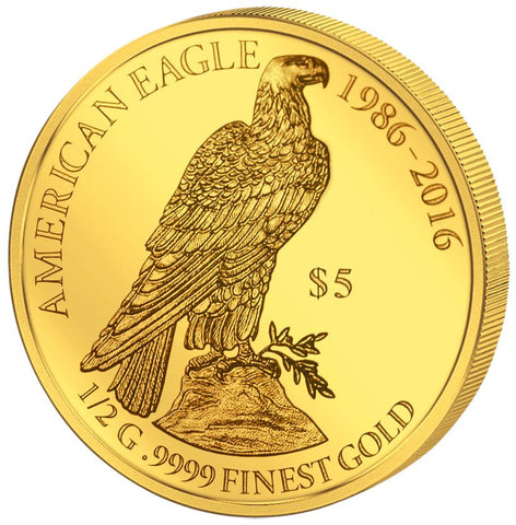 2016 Fiji 4 X 1/2 Gram Smart Collection Perched Eagle Gold Proof Coin