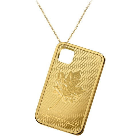 2016 Solomon Islands 2 Gram .9999 Maple Leaf Gold Coin Pendant - Art in Coins