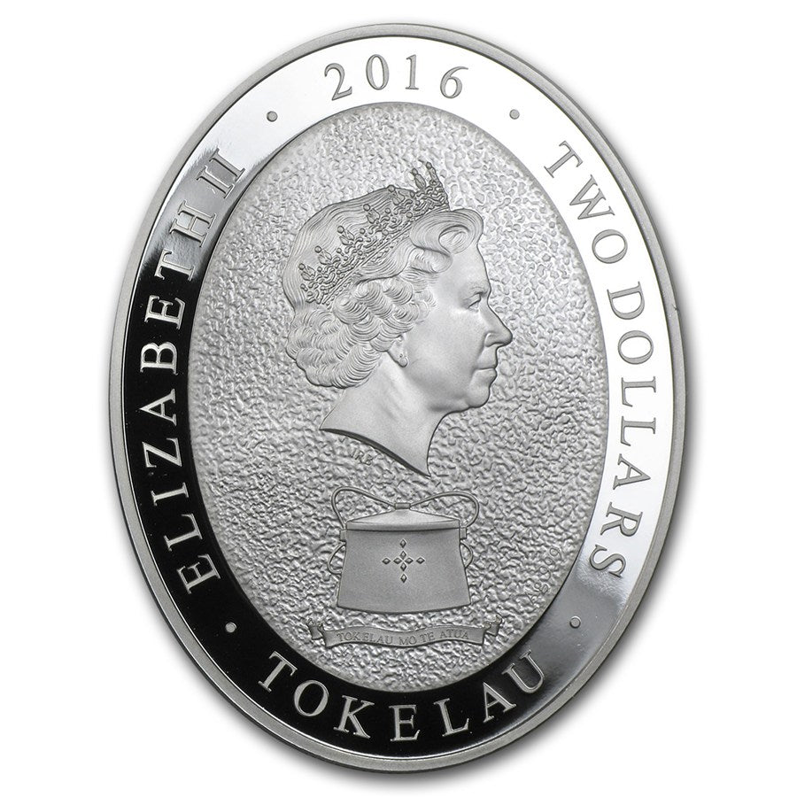 2016 Tokelau 1 Ounce Lunar Year Of The Monkey 5 Elements Silver Proof Coin Obv