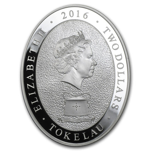 2016 Tokelau 1 Ounce Lunar Year Of The Monkey 5 Elements Silver Proof Coin Obv - Art in Coins