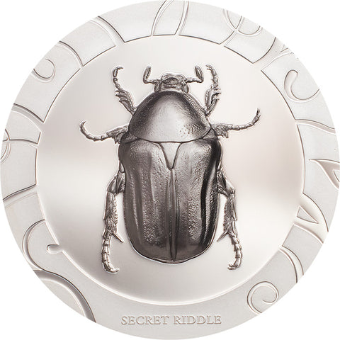 2017 Cook Islands 1 Ounce Scarab Beetle Selection III Secret Riddle Silver Proof Coin